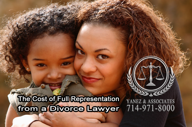 The Cost of Full Representation from a Divorce Lawyer
