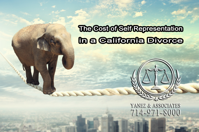 The Cost of Self Representation in a California Divorce