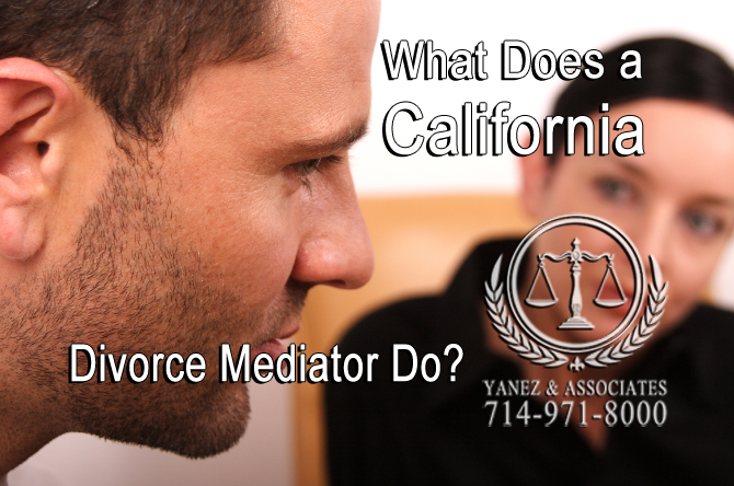 What Does a California Divorce Mediator Do?