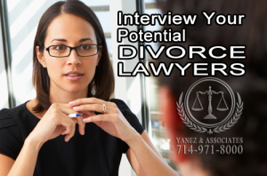 Ask about the attorney's experience working in divorce and family law case; moreover, if you need a divorce expert, look for a certified family law specialist!
