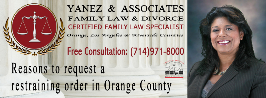Reasons to request a restraining order in Orange County