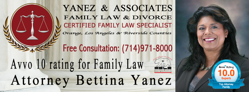 Avvo 10 rating for Family Law Attorney Bettina Yanez