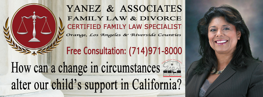 How can a change in circumstances alter our child's support in California?