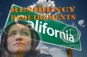 What are the OC California Residency Requirements for a Divorce and Residency Requirements for a Legal Separation?
