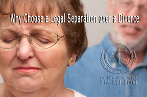 What are the reasons a couple might choose to get a legal separation over a divorce in OC or Los Angeles, California?