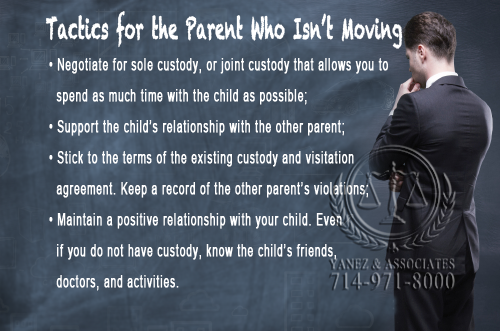 Attorney Recommended Tactics for the Parent Who Is not Moving Away