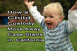Do YOU KNOW, How a Child Custody Move Away Case Starts in California
