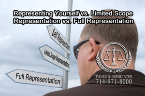 What are you most comfortable with: Representing Yourself vs. Limited Scope Representation vs. Full Representation?