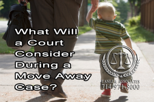 Do YOU KNOW, what a California Court will Consider During a Move-Away/Relocation Case?