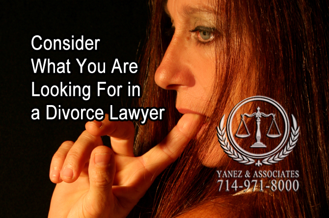 Consider What You Are Looking For in a Divorce Lawyer