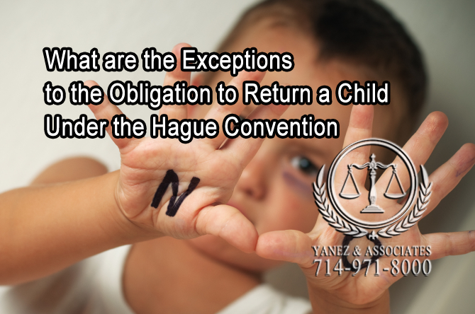 Exceptions to the Obligation to Return a Child Under the Hague Convention