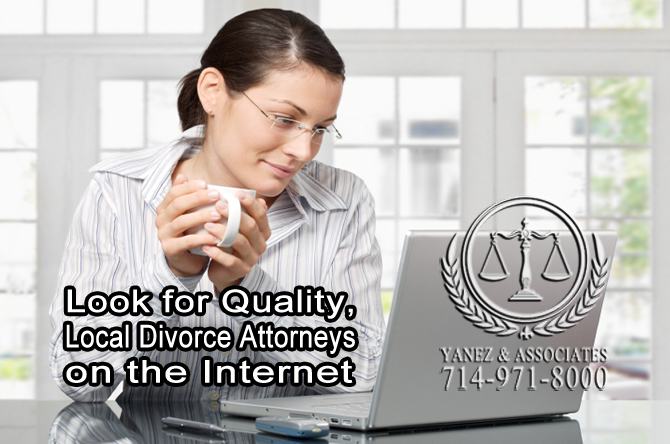 Look for Quality, Local Divorce Attorneys on the Internet