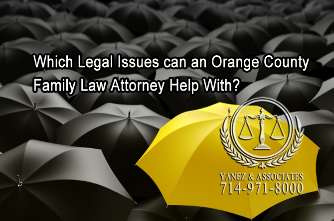 Which Legal Issues can an OC Family Law Attorney Help With?