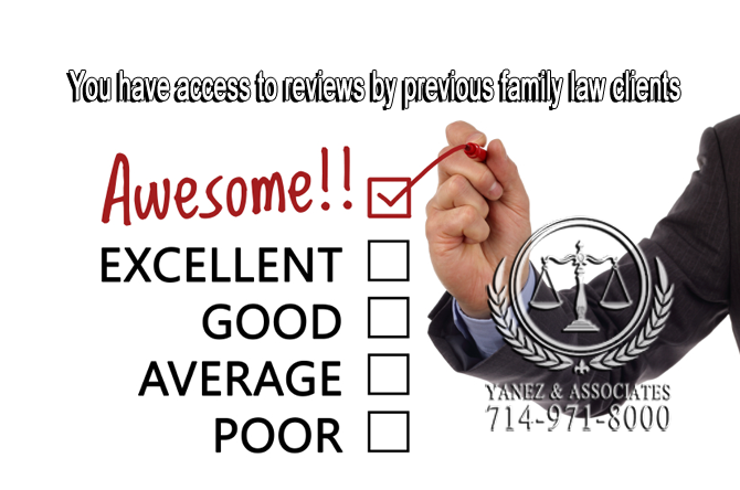 You have access to reviews by previous family law clients
