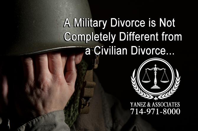 A Military Divorce is Not Completely Different from a Civilian Divorce...