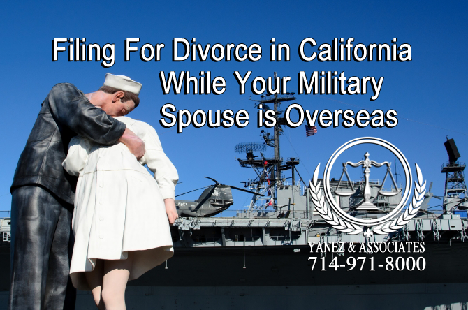 Filing For Divorce in California While Your Military Spouse is Overseas