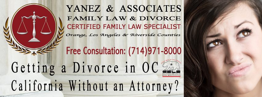 Getting a Divorce in OC California Without an Attorney?