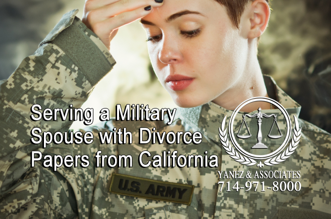 Serving a Military Spouse with Divorce Papers from California