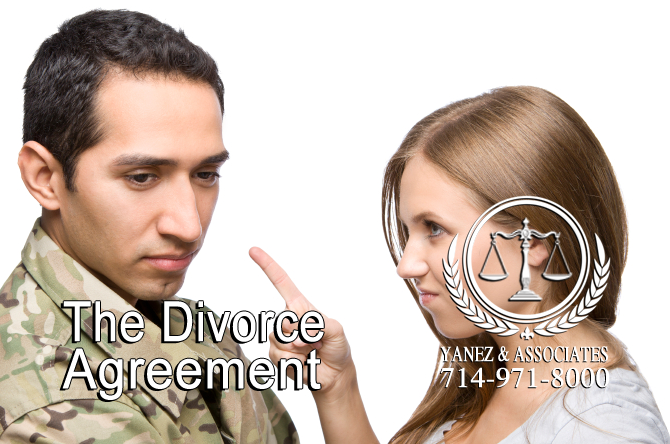The military Divorce Agreement in California