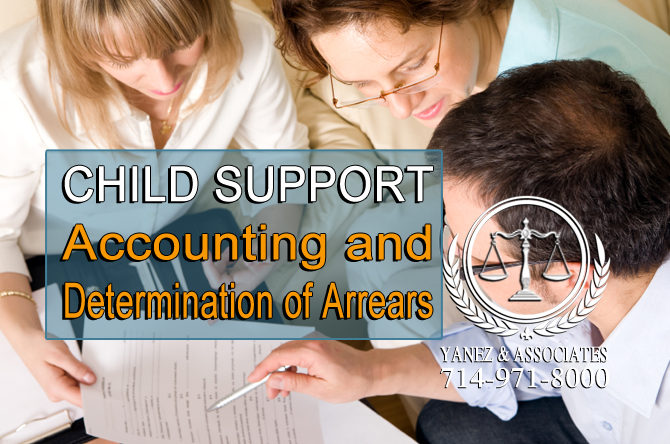 CHILD SUPPORT Accounting and Determination of Arrears in California