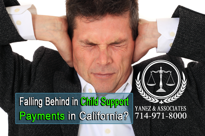 Falling Behind in Child Support Payments in Orange County or Los Angeles, California?