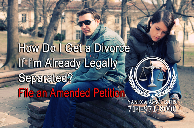 How Do I Get a Divorce If I'm Already Legally Separated? File an Amended Petition