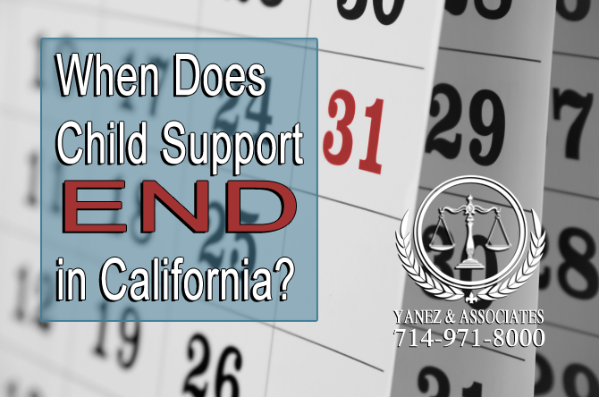 When Does Child Support End in California?