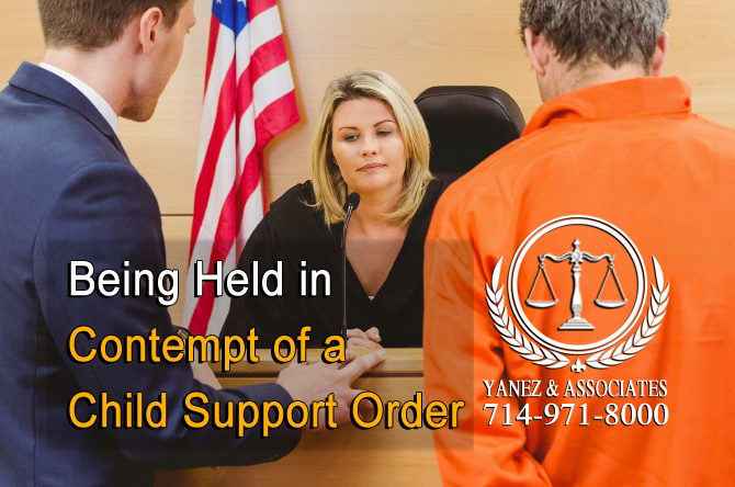 Being Held in Contempt of a Child Support Order