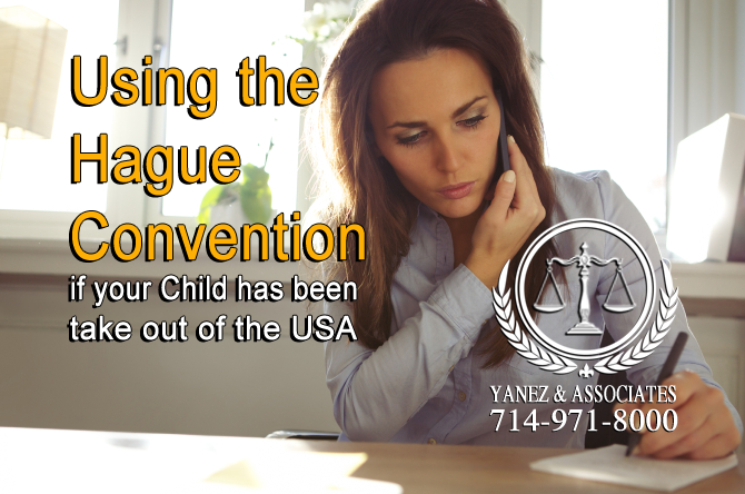Using the Hague Convention if your Child has been take out of the USA