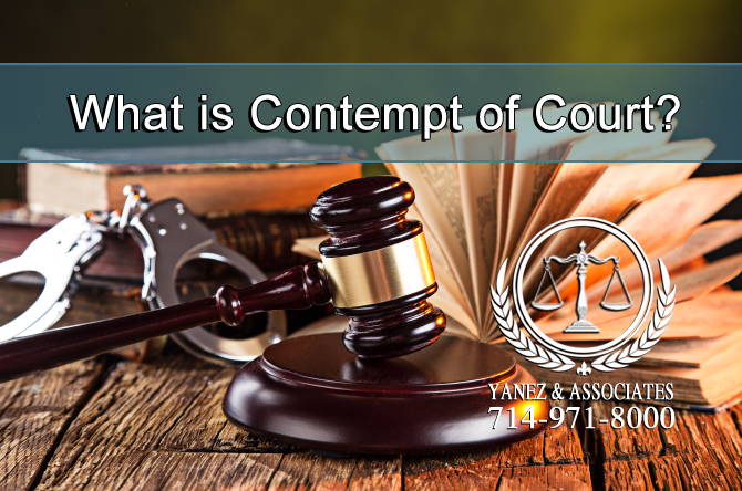 How does Contempt of Court work in the California Family Law Courts?