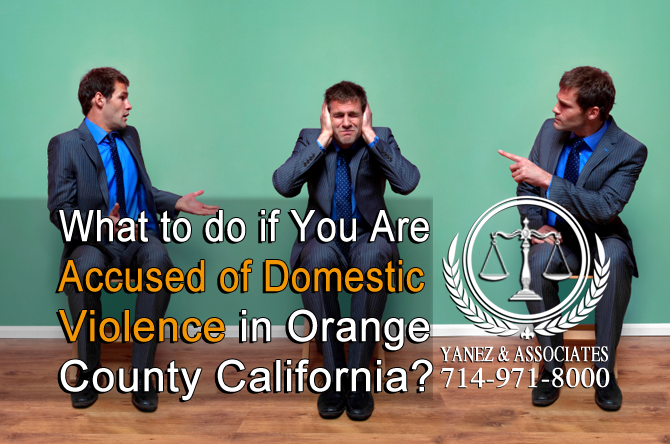 What to do if You Are Accused of Domestic Violence in OC California?