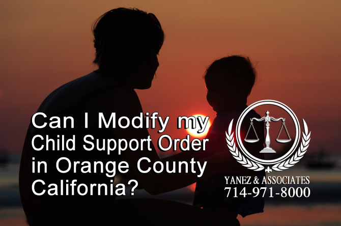 Can I Modify my Child Support Order?