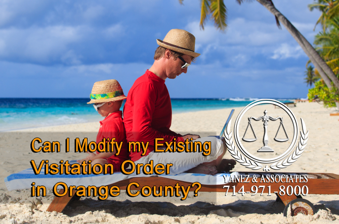 Can I Modify my Existing Visitation Order in Orange County?