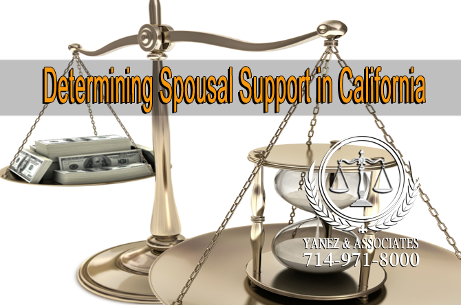 Determining Spousal Support in California