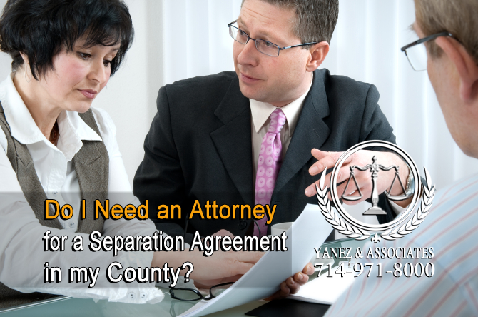 Do I Need an Attorney for a Separation Agreement in my County?