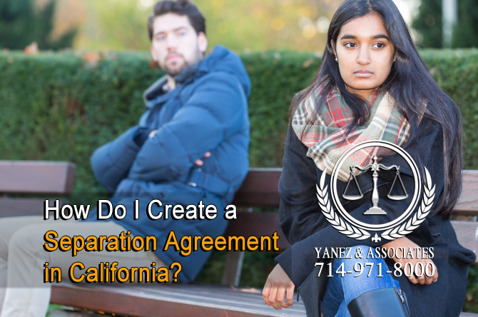How Do I Create a Separation Agreement in California?