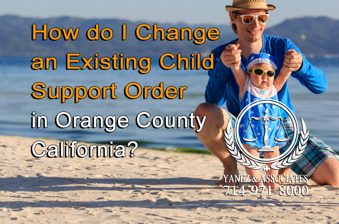 How do I Change an Existing Child Support Order?