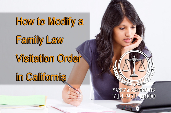 How to Modify a Family Law Visitation Order in California