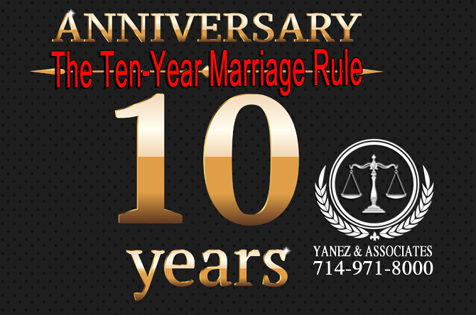 The Ten-Year Marriage Rule