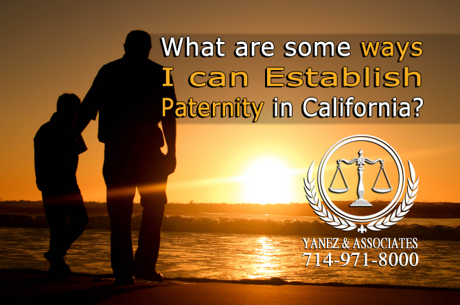 What are some ways I can Establish Paternity in California?