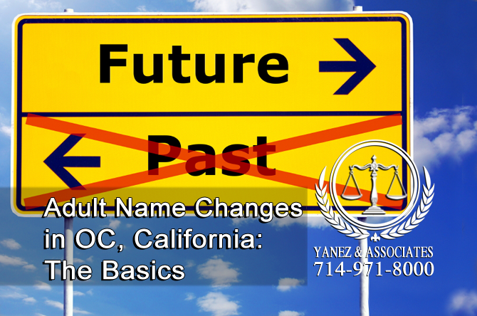 Adult Name Changes in OC, California: The Basics