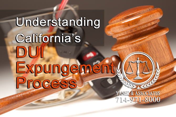 I need help Understanding OC California's DUI Expungement Process