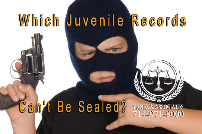 Which Juvenile Records Can't Be Sealed in California?